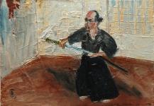 Соловьев Владимир «Иайдо. Обретение мастерства»,2011. Х.,м. 19х27