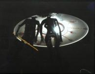 Кузьмин Андрей «Д'Артаньян берет штурмом летающую тарелку»,2011.См.техн.40х50