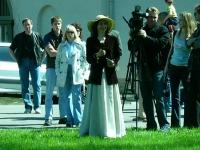 Первый День Фехтовальщика 2005 открывает Алина Тулякова, организатор. Фото Евгений Минус