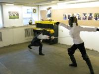 Открытие Первый Дней фехтовальной культуры. Выступают Ника Булавина и Василиса Ефимова, школа фехтования
