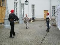 Руслан показывает приемы боя на парном оружии
