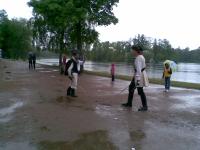 Дождь разогнал посетителей