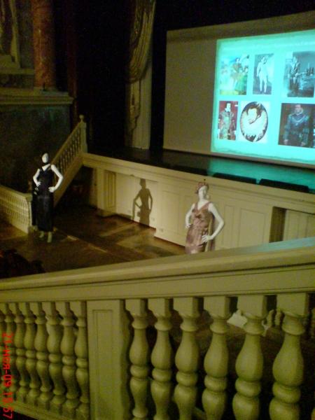 Присутствующие прослушали лекцию о костюмах в исторических фильмах