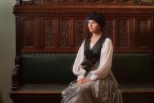 Юлия Федорова, фехтовальщика из клуба европейского исторического фехтования Парад-Рипост