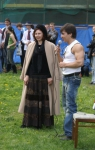 Алина Тулякова и Сергей Мишенев, ее первый учитель фехтования