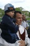 Фехтмейстер Руслан Каприлов с сын Илья