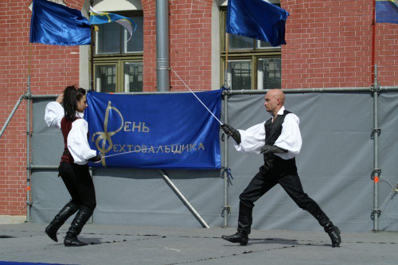 День Фехтовальщика 2011. Команда по арт-фехтованию