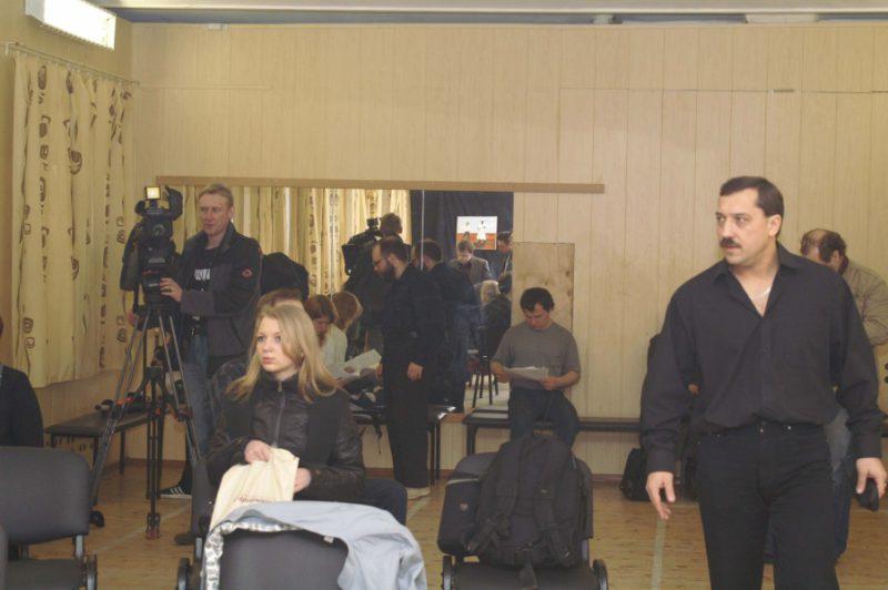 Пресс-конференция с участием представителей прессы и телевидения