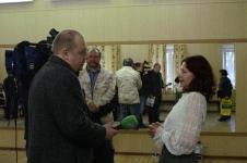 Пресс-конференция по случаю трёхлетия Санкт-Петербургского Фехтовального Клуба. 2008. Фото: Михаил Шеремет
