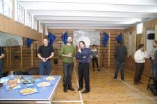 Ведущие праздника День Фехтовальщика - актер Георгий Кобиашвили и Дмитрий Тейбер-Лебедев