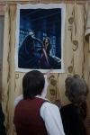 Все с восхищением рассматривали вышивку Ирины Мельниковой, саберфайтера из Скиуруса на сюжет из Звездных войн