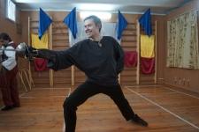 Виталий Федоров,фехтовальщик из клуба европейского исторического фехтования Парад-Рипост