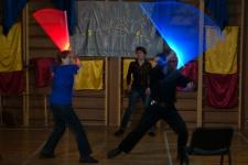 Святочный вечер фехтовальщиков в СПбФК 2012. Светящиеся мечи у сообщества саберфайтеров