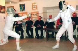 Пресс-конференция в первый день рождения Санкт-Петербургского Фехтовального Клуба, первый понедельник апреля 2005.