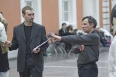 4.Судьи - Сергей Култаев и (справа) Руслан Каприлов, мэтр исторического фехтования СПбФК