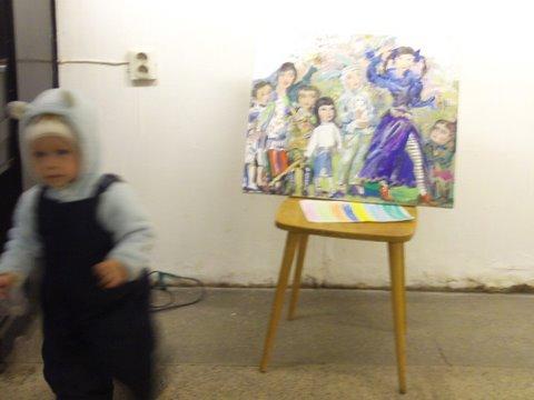 Костя Тейбер-Лебедев рисовал возле картины Зайцевой Недетские игрыдетские
