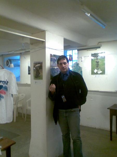 Дмитрий Тейбер-Лебедев на вечере Элизавет Зайцевой
