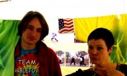 Шапошников Алексей с автором выставки