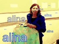 Нарядная блузка с рисунками шпаг досталась Алине Туляковой