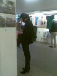 Миронова Валерия, дизайнер одежды, на выставке Зайцевой и Шеремета.